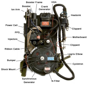 Proton Packs from the Ghostbusters movies.